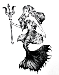 Illustration Meerjungfrau
