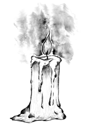 Kerze Illustration