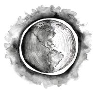 Erde Illustration Viktoria