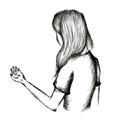 Mädchen Illustration Viktoria