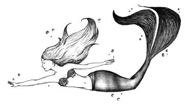 Meerjungfrau Illu Katha